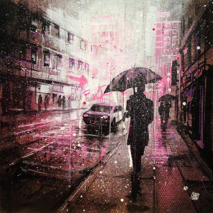 Rain and city light