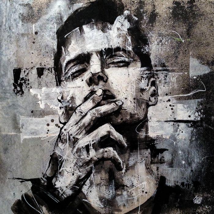 A grey man melancholy