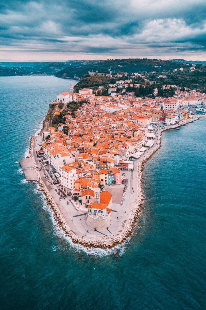 Slovénie vue du ciel