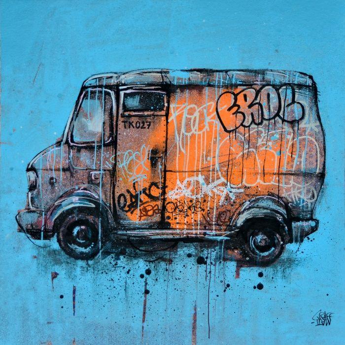 Old graffiti truck